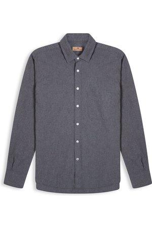 Burrows and Hare Micro-Check Shirt - Dark Grey