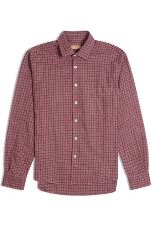 Burrows and Hare Burrows & Hare Flannel Check Shirt - Bordeaux