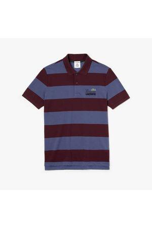 Lacoste Live Stripe Polo Shirt & Bordeaux