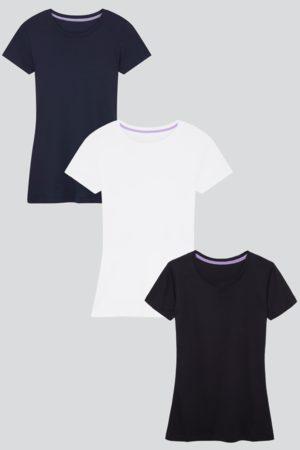 Lavender Hill Clothing Short Sleeve Crew Neck Cotton Modal Blend T-shirt Bundle