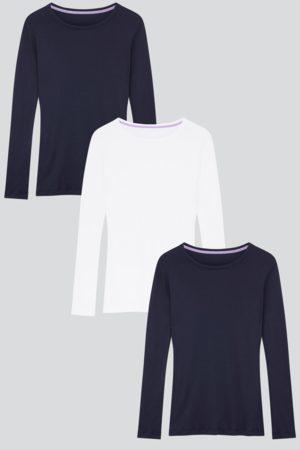 Lavender Hill Clothing Long Sleeve Crew Neck Cotton Modal Blend T-shirt Bundle
