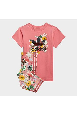 adidas Baby Knitted Dresses - Girls' Infant and Toddler Originals HER Studio London T-Shirt Dress and Leggings Set in /Hazy Rose Size 9 Month 100% Cotton/Knit