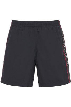 Alexander McQueen Logo Tape Nylon Swim Shorts