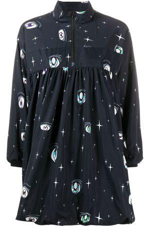 SANDY LIANG Switch eye-print mini dress