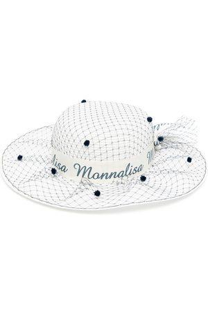 MONNALISA Logo ribbon sun hat