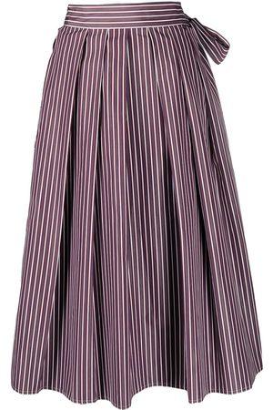 SOFIE D'HOORE Stella stripe-print box-pleat midi skirt