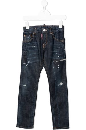 Dsquared2 Boys Straight - Distressed straight-leg jeans