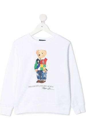 Ralph Lauren Boys Hoodies - Signature teddy print sweatshirt