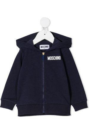 Moschino Teddy bear-print zip-up hoodie