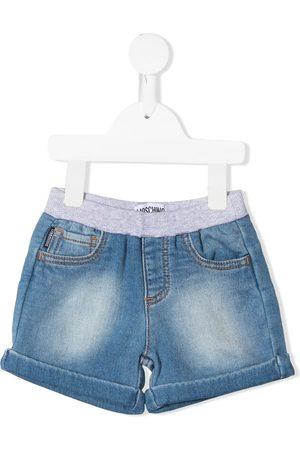 Moschino Teddy bear-patch denim shorts