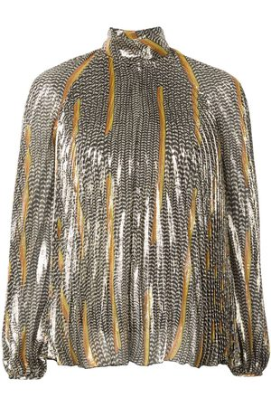 Giambattista Valli Embroidered long-sleeve blouse