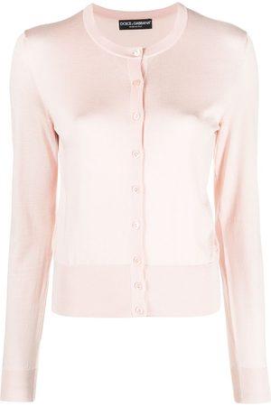 Dolce & Gabbana Round-neck silk cardigan