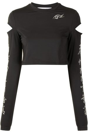 Ground Zero Cut out detail cropped top