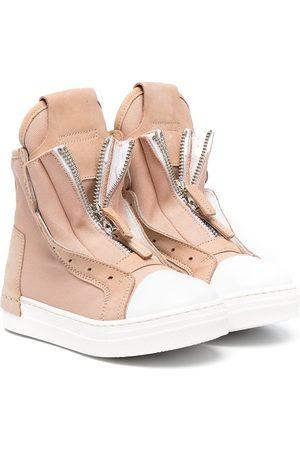 CINZIA ARAIA Girls Sneakers - Front zip high-top sneakers