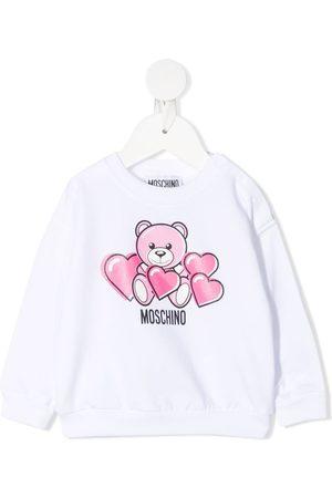 Moschino Bear-motif crew-neck sweatshirt