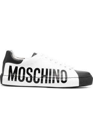 Moschino Logo-print two-tone sneakers