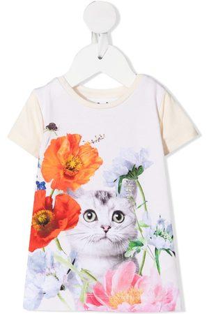 Molo Floral-print organic cotton t-shirt - Neutrals