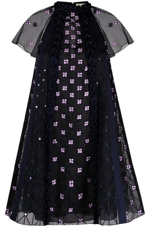 TEMPERLEY LONDON Pixie floral-embroidered dress