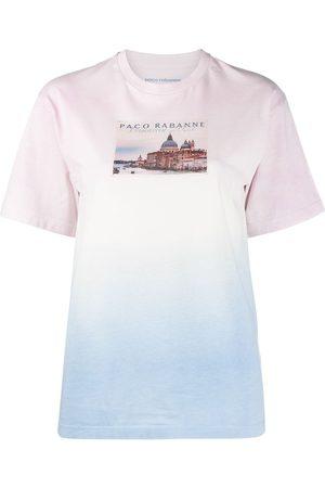 Paco rabanne Women T-shirts - Gradient effect T-shirt
