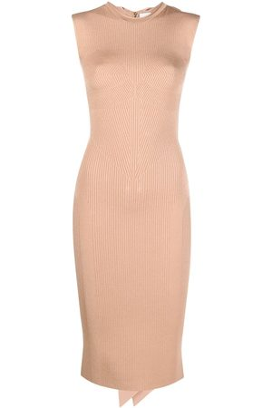 AZ FACTORY MyBody high-neck bow dress - Neutrals