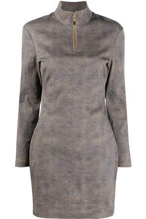 HAN Kjøbenhavn Washed-effect twill mini dress