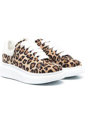 Alexander McQueen Oversized leopard sneakers