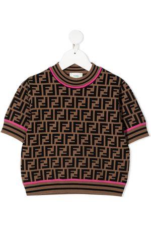 Fendi FF motif short-sleeve top