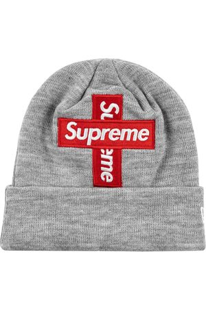"Supreme New Era cross box-logo beanie ""FW 20"" - Grey"