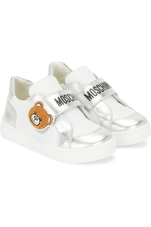Moschino Girls Sneakers - Teddy Bear patch low-top sneakers