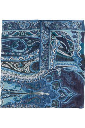 Etro Paisley-print linen-blend scarf