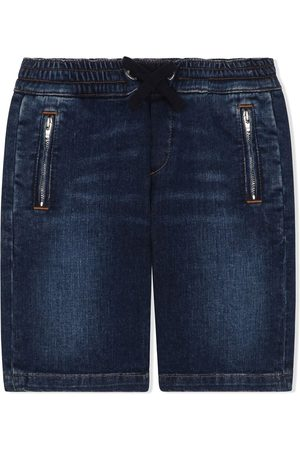 Dolce & Gabbana Kids Drawstring-waist denim shorts
