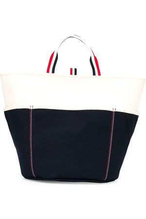 Thom Browne Men Bags - Large double-face canvas tote bag