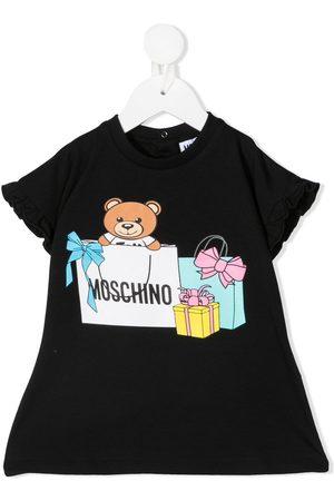 Moschino Teddy bear-print knitted dress