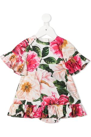 Dolce & Gabbana Baby Knitted Dresses - Floral-print ruffled dress