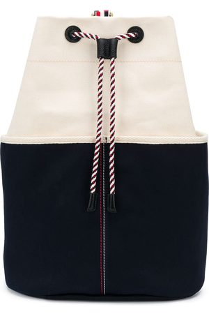 Thom Browne Men Rucksacks - Double-face canvas sailor bag