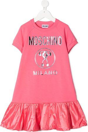Moschino Girls Printed Dresses - Logo-print ruffled dress
