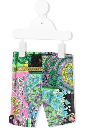 VERSACE Baby Leggings - Barocco patchwork print leggings