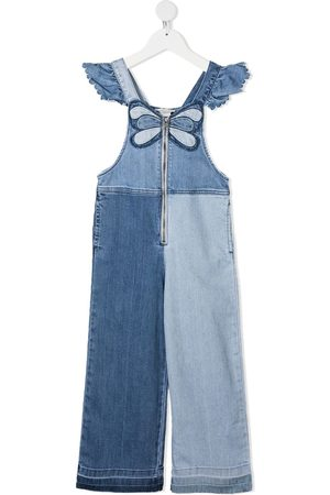 Stella McCartney Butterfly-embroidered denim jumpsuit