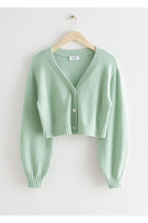 & OTHER STORIES Women Cardigans - Cropped Boxy Knit Cardigan