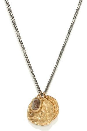 M. COHEN Men Necklaces - The Tiba Coins Diamond & 18kt Necklace - Mens