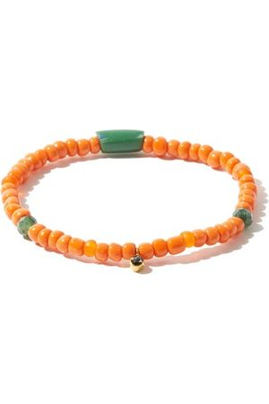 Musa by Bobbie Diamond, Emerald & 18kt Gold Beaded Bracelet - Womens