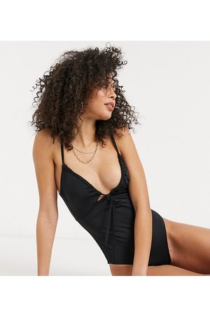 ASOS ASOS DESIGN tall recycled ruched tie swimsuit in