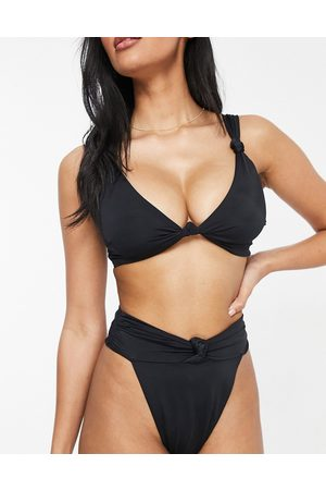 ASOS Fuller Bust recycled mix and match square neck crop bikini top in
