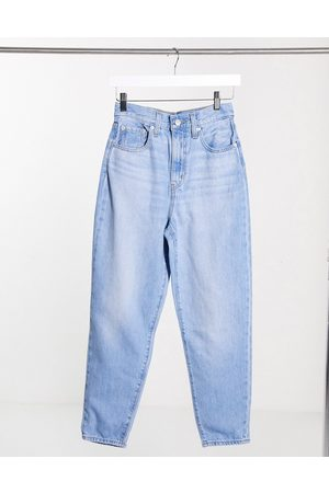 Levi's High loose tapered leg jeans in light wash-Blues