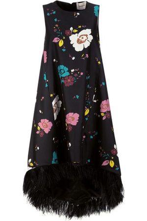 La DoubleJ Women Midi Dresses - La Scala High Dress (With Feathers)