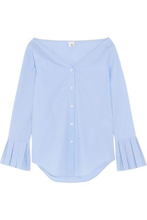 IRIS & INK Woman Striped Cotton-poplin Shirt Light Size 10
