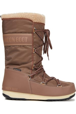 Moon Boot Women Snow Boots - Woman Monaco Faux Shearling-trimmed Shell Snow Boots Light Size 36