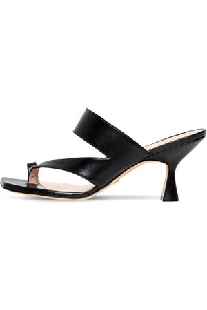 Stuart Weitzman 75mm Lyla Leather Thong Sandals