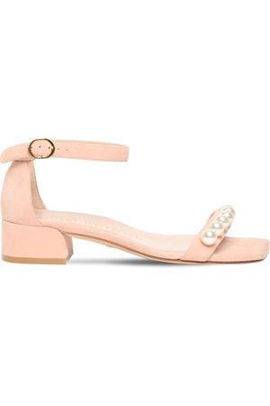 Stuart Weitzman Women Sandals - 35mm Nudistjune Suede Sandals