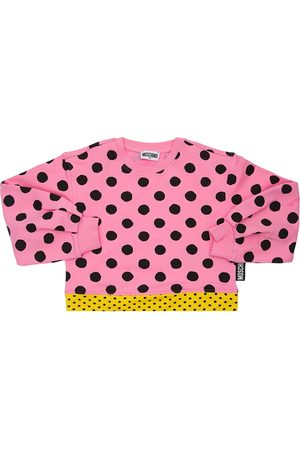 Moschino All Over Print Cotton Sweatshirt